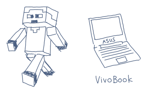 vivobook-and-minecraft